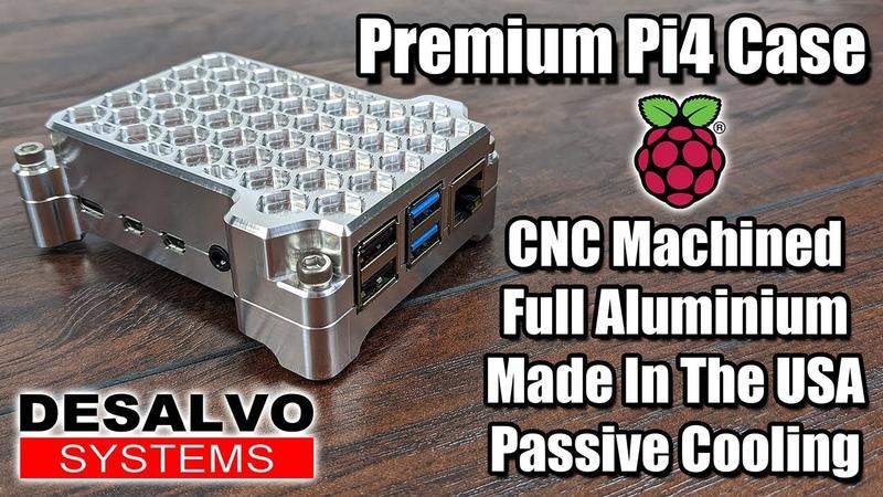 Premium Pi4 Case CNC Machined Full Aluminum Made In The USA Passive Cooling