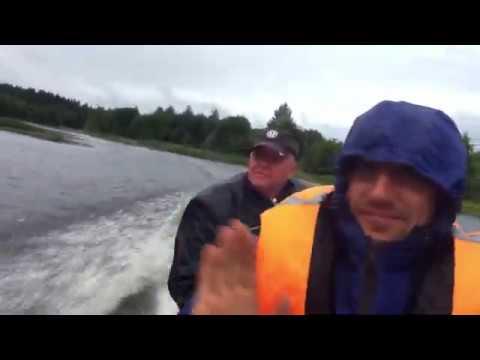 Белое озеро р Мегра обкатка мотора Tohatsu18 лодка казанка