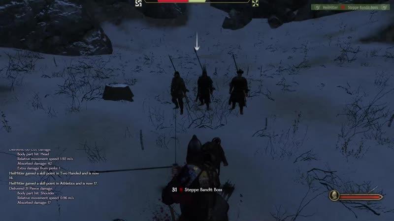 《Mount Blade II Bannerlord》Duell mit einigen bandit boss Schön Japanische Katana 卐