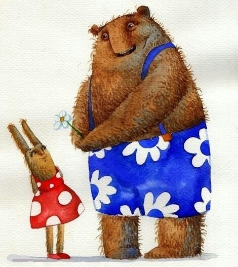 Картинки про зайку и медведя