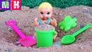 СЪЕЛ ПЕСОК! КАТЯ И МАКС ВЕСЕЛАЯ СЕМЕЙКА Мультики с куклами смешное видео мультики Барби
