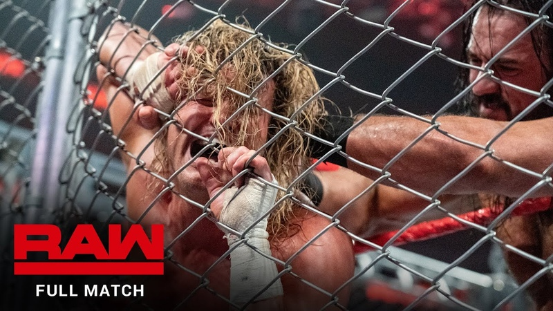 My1 Drew McIntyre vs Dolph Ziggler Steel Cage Match Raw December 31 2018
