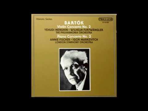 Béla Bartók Concerto Piano N° 3 Annie Fischer Igor Markevitch 1955