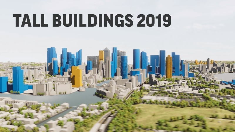 NLA London Tall Buildings Survey 2019 - VU.CITY fly through