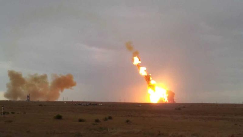 Crash rocket Proton M with 3 Glonass spacecraft Аварийный пуск Протон М 02 07 2013