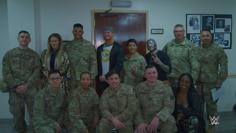 Superstars visit U S Air Force Base in Riyadh