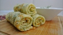 Блинчики с сыром и зеленью - съедаются в один миг невероятно вкусное блюдо!