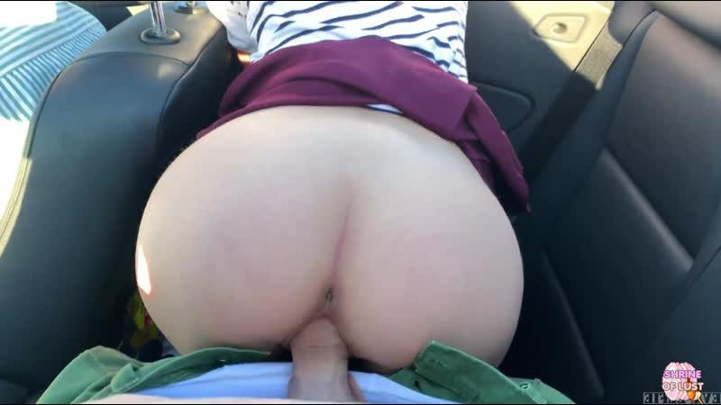 Eva Elfie Public Teen Sex in the Convertible Car on a way to Las Vegas Teen Porn Anal Oral Russian Hardcore