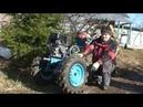 Супер прочные опоры жигулевских колес для мотоблока Нева МБ 2 на газе