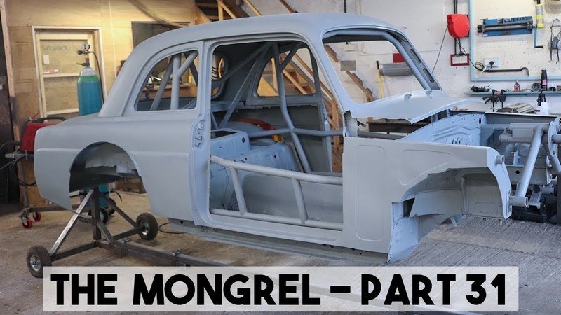 THE MONGREL GETS SHOT BLASTED. MX5 MIATA 1959 FORD BODY.