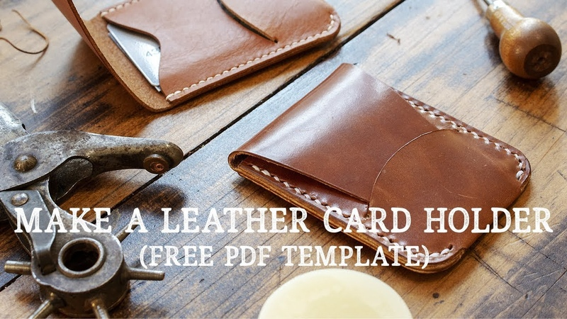 Making A LEATHER CARD HOLDER With Flap Closure FREE PDF PATTERN