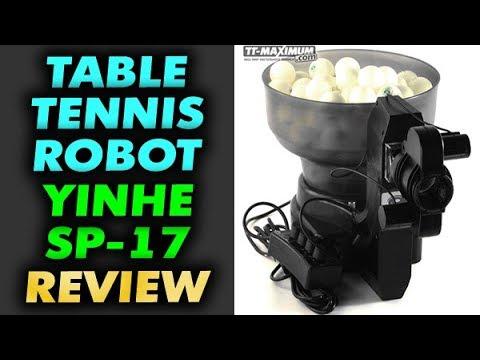 Обзор робот SP 17 от YINHE Milkyway тренажёр для настольного тенниса для отработки техники