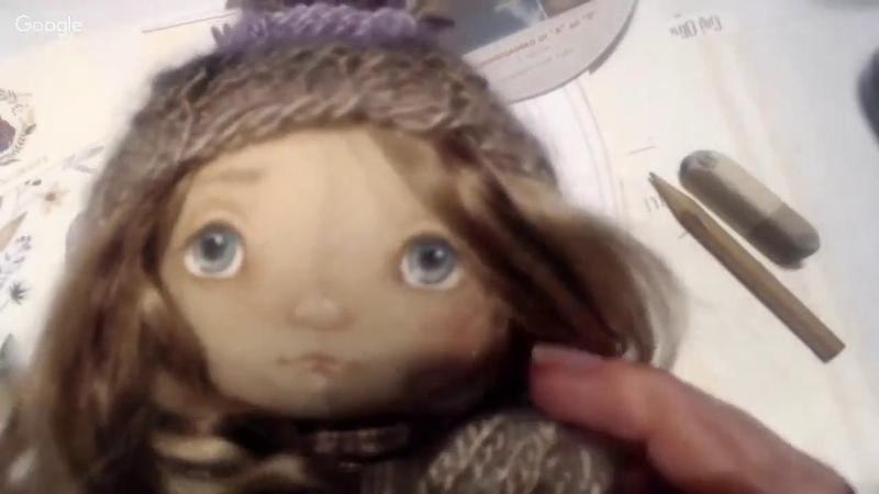 Часть 1. Мастер-класс Натальи Кондратюк рисуем лицо куколке.