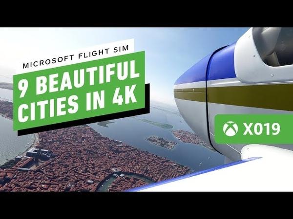 Microsoft Flight Simulator 9 Beautiful Cities in 4K60 - X019