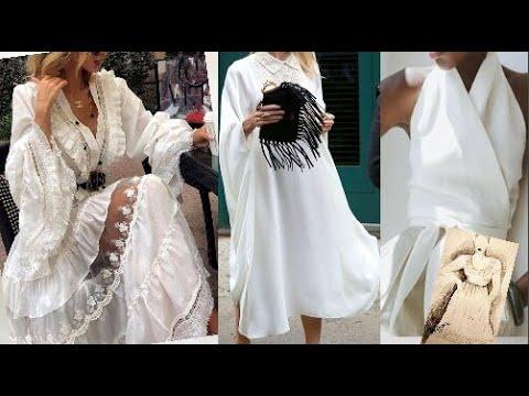 Лето 2020 в белом цвете для женщин за 50