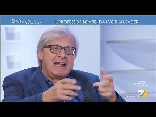 Vittorio Sgarbi dà i voti ai protagonisti della crisi 'Conte bisessuale Spadafora