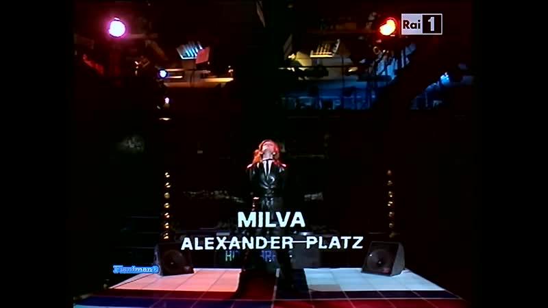 ♫ Milva ♪ Alexander Platz Italian TV Show 1982 ♫ Video Audio Restored HD