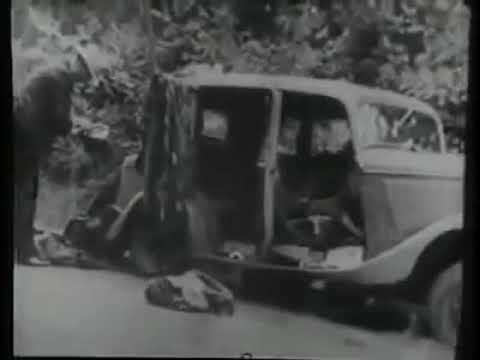 Машина Бонни и Клайда после расстрела