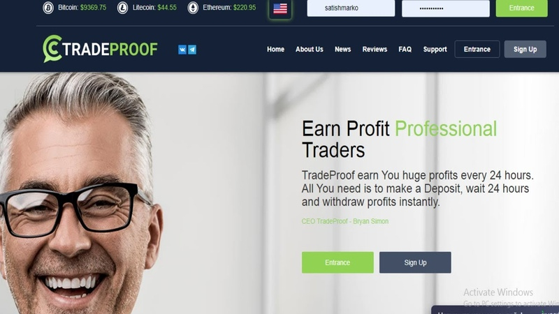 Tradeproof Ruble Investment Earning Site 2020 Profit 50% Per Day Tech Marko