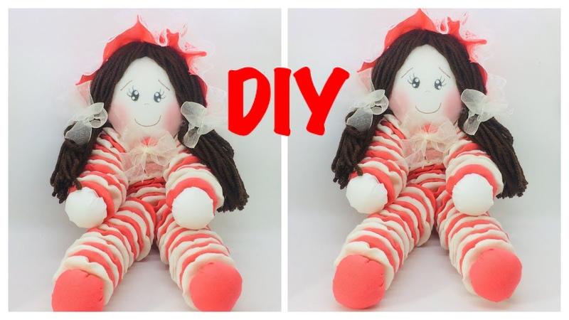 Geri Dönüşümlü Bez Bebek Nasıl Yapılır-How to make Recycled Cloth doll-GERİ DÖNÜŞÜM-RECYCLE-DIY😲♻️🤔
