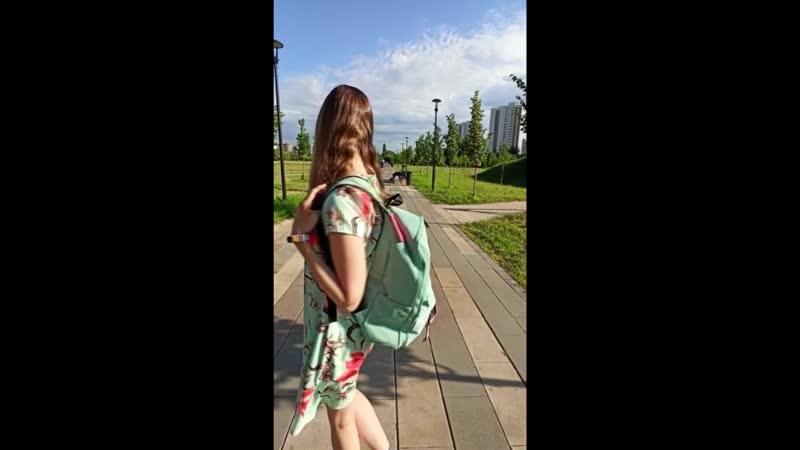 Рюкзак бирюзовый с котом