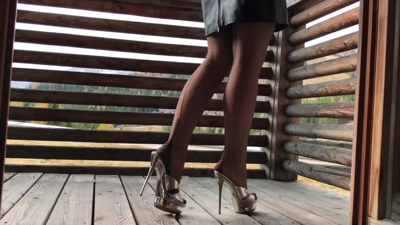 Bupshi - nylon stockings and platform mules