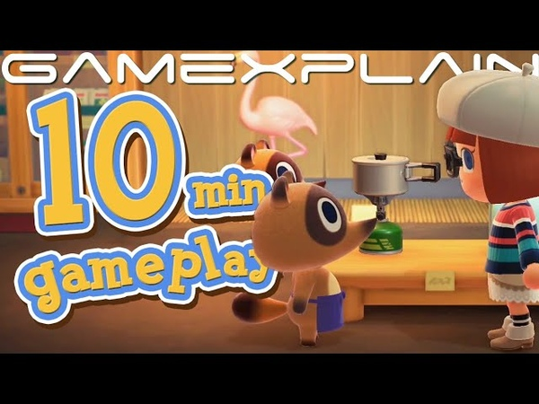 10 Minutes of Animal Crossing New Horizons DIRECT FEED Gameplay Able Sisters Nook's More