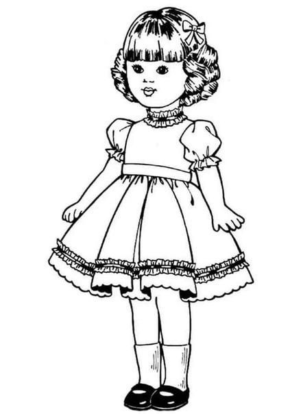 Предлагаю вам серию раскрасок для девочек 4 часть - куклы Картинки можно распечатать на принтере. Сохраняйте себе на странички. И занят и