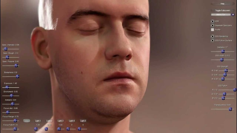 Separable Subsurface Scattering SSSS Tech Demo HD