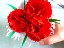 Букет из цветов гвоздики своими руками. Поделки/подарки из бумаги на 9 Мая