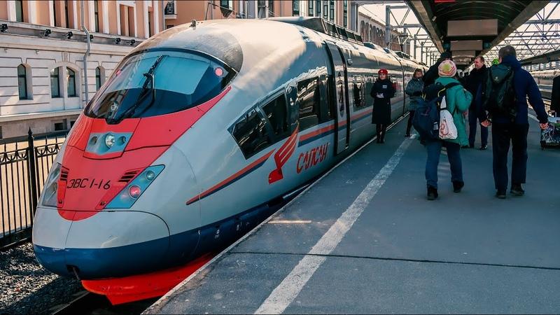 765➡️Санкт Петербург Москва Поездка на высокоскоростном поезде Сапсан Вид из окна