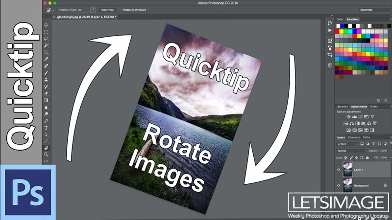 Photoshop Quick Tip How to Rotate a Selection or an Image | Photoshop Tutorial