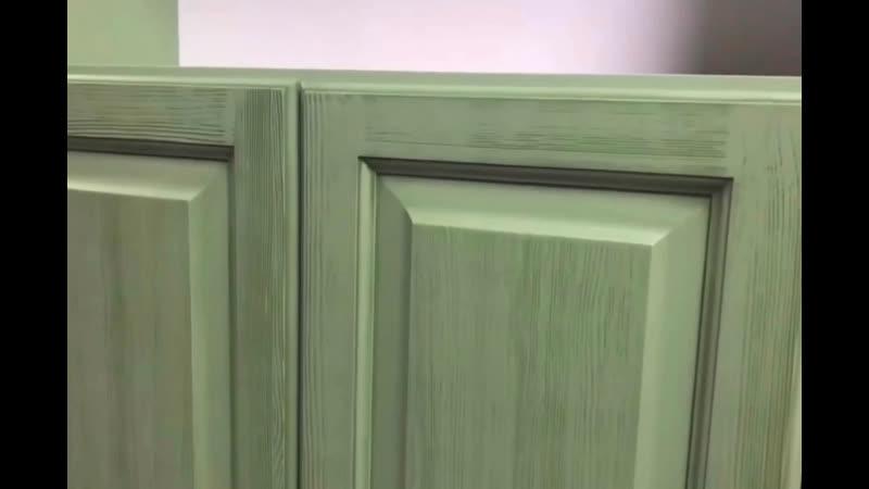 Кухня Скандия Цвет Фисташка браширование
