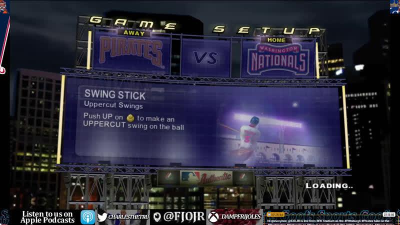 SG MLB Pittsburgh Pirates vs Washington Nationals Baseball sim