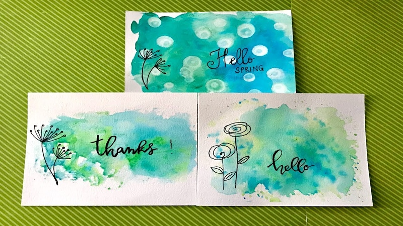 Watercolor background tecniques for beginners art journaling cardmaking
