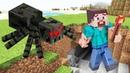 Видео Майнкрафт - Выживание Нуба в пещере Minecraft! - Онлайн летсплей игры для мальчиков.
