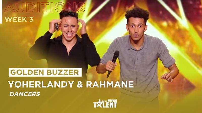 GOLDEN BUZZER Yoherlandy and Rahmane get's Sugar Sammy's golden buzzer on France's got talent