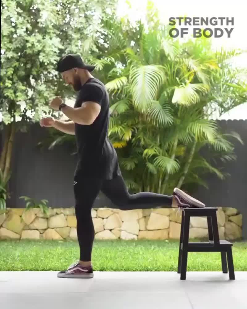 Поочередная тренировка ног со своим весом 🔥