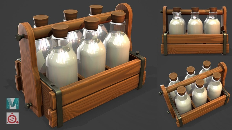 Making a Milk Container Carrier in Maya 2020 and Substance Painter