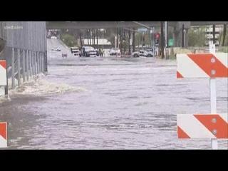 Rain floods San Diego streets on Friday
