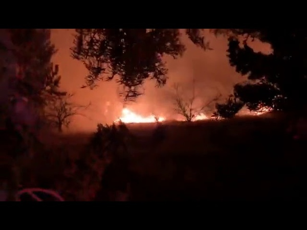 Fresno Firefighters Bring Grass Fires Burning Near Homes Under Control
