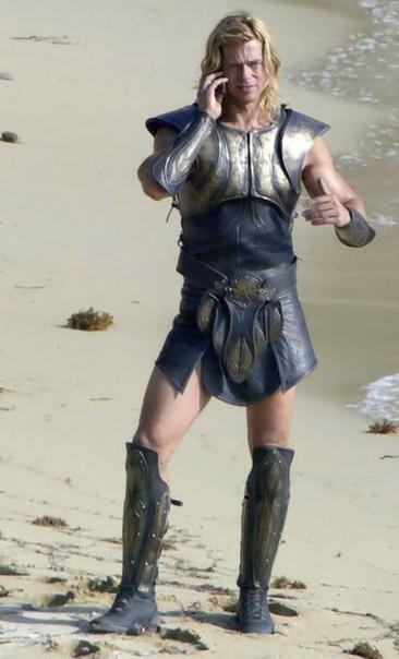 "Бред Питт на съемках фильма ""Троя"" ???? Шикарный..."