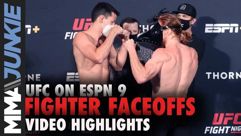 UFC on ESPN 9 fighter faceoffs
