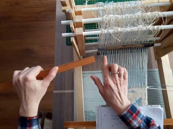 Instrukcja wybierania wzoru w tkaninie dwuosnowowej Doubleweave double weave