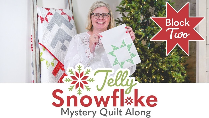 Jelly Snowflake Christmas in July Mystery Quilt Sew Along Block 2 Reveal Fat Quarter Shop