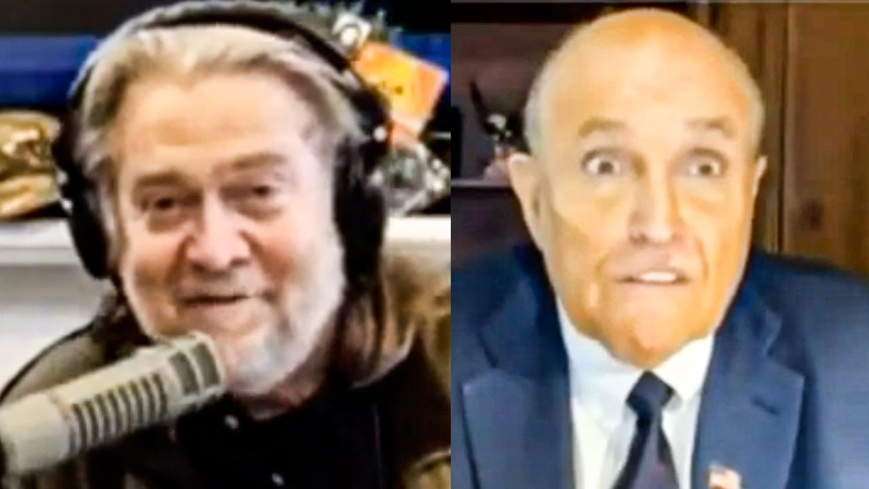 Steve Bannon Humiliates Shocked Rudy Giuliani During Interview