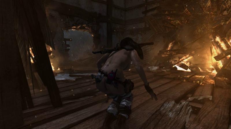 Tomb Raider 2013 Nude mod by ATL 2020 v 2 9 SURE SHOT 2 HUNTER 2 Играю как в первый раз часть5