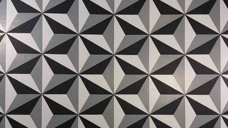 Pintura Decorativa Efeito 3D Fácil de Fazer
