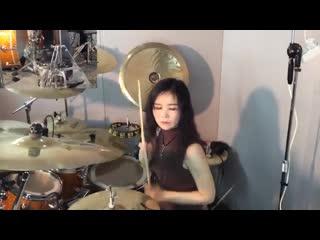 SLAYER - Raining Blood drum cover by Ami Kim