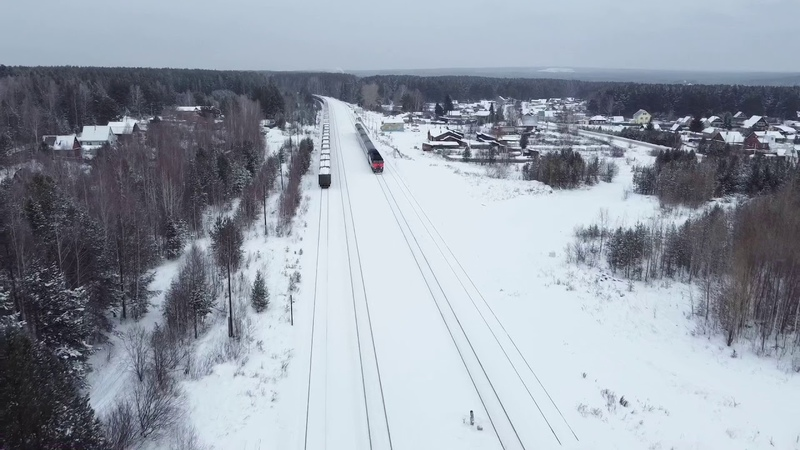 Электричка. ЖД станция с.Мраморского г.Полевского (electric train)